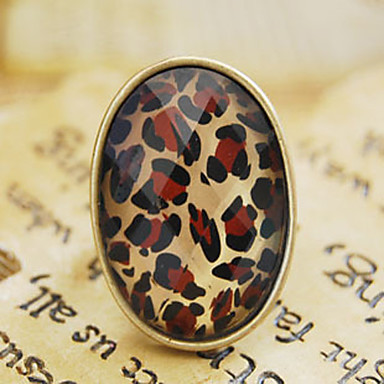 retro anillo de leopardo