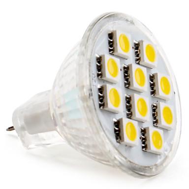 2 W 2800 lm GU4(MR11) LED-kohdevalaisimet MR11 10 LED-helmet SMD 5050 Lämmin valkoinen / Kylmä valkoinen 12 V