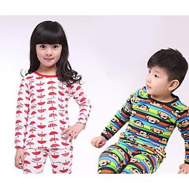 set pigiama in pile caldi bambini bambini