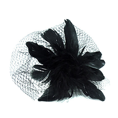 Tulle Crystal Fabric Tiaras Birdcage Veils 1 Wedding Special Occasion Party / Evening Casual Outdoor Headpiece
