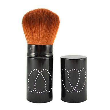 retráctil cosmética facial brocha de maquillaje en el tubo negro