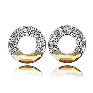 Silver High Quality Alloy And Crystal Earrings (More Colors)