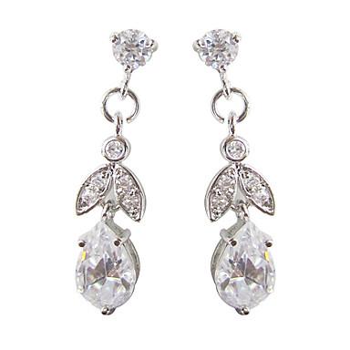 Kadın's 1set Kübik Zirconia Şık Platinum Oval Mücevher Özel Anlar Parti / Gece Kostüm takısı