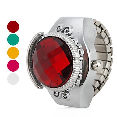 Γυναικεία Ρολόι Δαχτυλίδι Ιαπωνικά Χαλαζίας Καθημερινό Ρολόι κράμα Μπάντα Βίντατζ Ασημί - Τριανταφυλλί Κόκκινο Πράσινο Ενας χρόνος Διάρκεια Ζωής Μπαταρίας / SSUO SR626SW