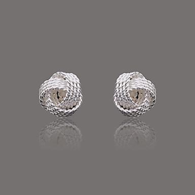 Gorgeous Silver Plate Mesh Ball Earring