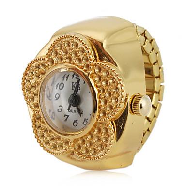 Pentru femei Quartz Ceas inel Japoneză Ceas Casual Aliaj Bandă Floare / Modă Auriu