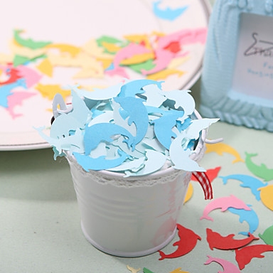 Wedding Décor Little Dolphen Shaped Paper Confetti - Pack of 350 Pieces (Random Color)