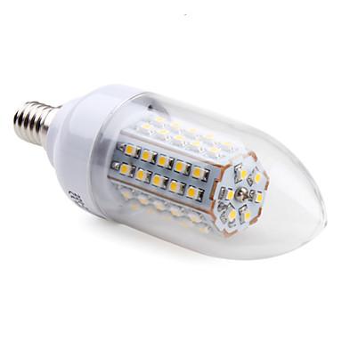 E14 3.5 W 66 SMD 3528 200 LM Warm White C Candle Bulbs AC 220-240 V