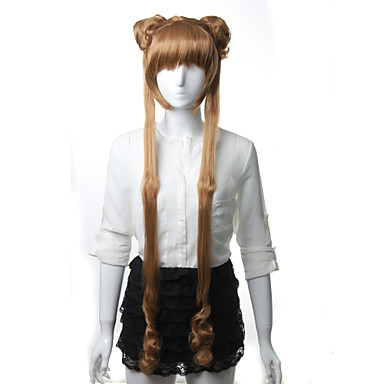 Cosplay Parykker Sailor Moon Sailor Moon Anime Cosplay Parykker 120 CM Varmeresistent Fiber Dame