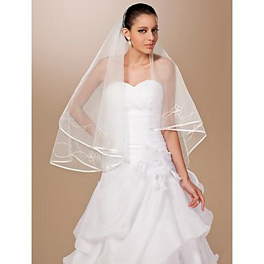 1 lag fingerspids længde bryllup slør
