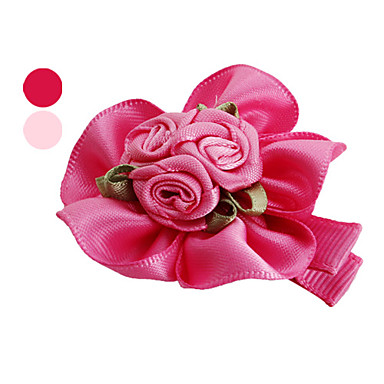 Dog Hair Accessories Dog Clothes Birthday Holiday Flower Rose Blushing Pink