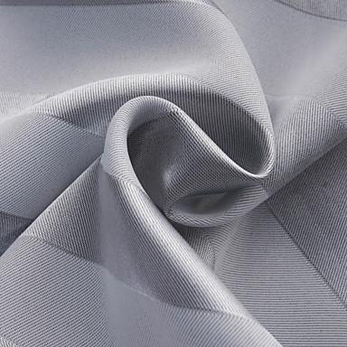 Ahşap Korniş Kısmı Kopça Deliği Üstü Tab Top Çift Kaplamalı Pencere Tedavi Akdeniz, Jakar Çizgi Yatakodası %100 Polyester Polyester