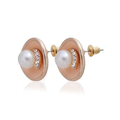 Charmerende 18K forgyldt Runde Pearl øreringe