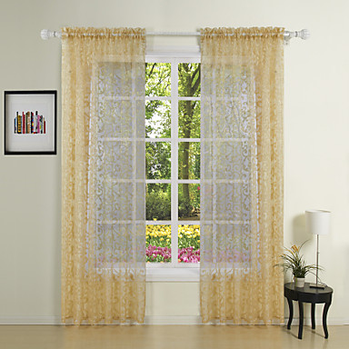 Dva panely Window Léčba Barroco Polyester Materiál Sheer Záclony Shades Home dekorace For Okno