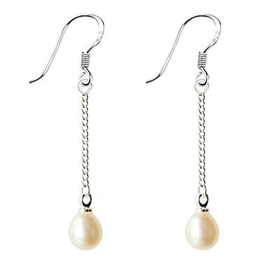 Damen Perle Tropfen-Ohrringe - Perle Weiß / Purpur Für