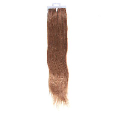 100% Chinese Hair 20 Inch Long Silky Straight Hand-tied Tape Hair Extensions- Multiple Colors Available