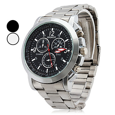Herrn Quartz Armbanduhr Armbanduhren für den Alltag Legierung Band Charme Silber