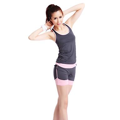 Mulheres Ioga Ternos Sem Mangas Vestível Ioga / Fitness M / L / XL