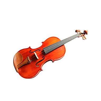 violintine - (v25) 4/4 de qualité professionnelle en épicéa massif et 1-pièce pour violon en érable flammé avec étui / arc
