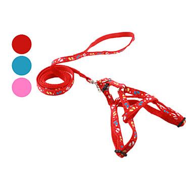 Pes postroje vodítka Nasazovací vodítko Šlépěje Textil Červená Modrá Růžová