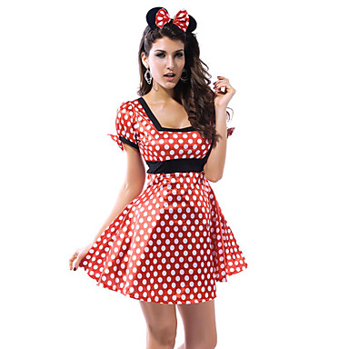 Animal Cosplay Costume Party Costume Women's Halloween Carnival Festival / Holiday Halloween Costumes Polka Dot Patchwork