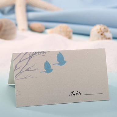 yer kartları ve sahipleri yer kartı - sevgi kuşları (12 kümesi) düğün