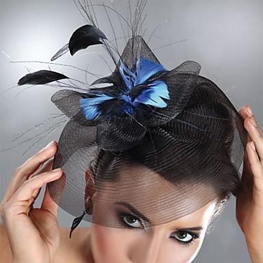 Tüll / Feder Fascinatoren / Kopfbedeckung mit Blumig 1pc Hochzeit / Besondere Anlässe Kopfschmuck