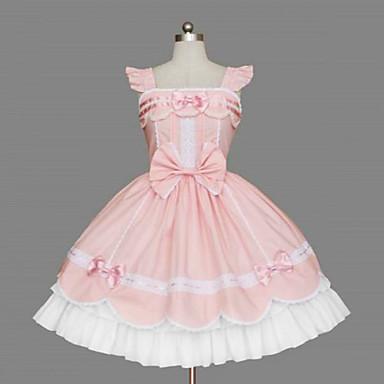 Sweet Lolita Sweet Lolita Kadın's Elbiseler Cosplay Kolsuz Orta Uzunluk