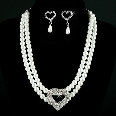 Fabulous Alloy With Rhinestone / Imitation Pearl Women's Jewelry Set Including Necklace, Earrings