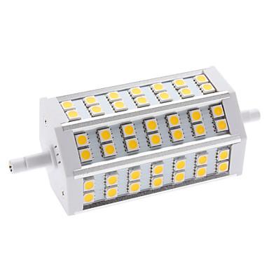 650 lm R7S LED-kolbepærer T 42 leds SMD 5050 Varm hvid AC 85-265V
