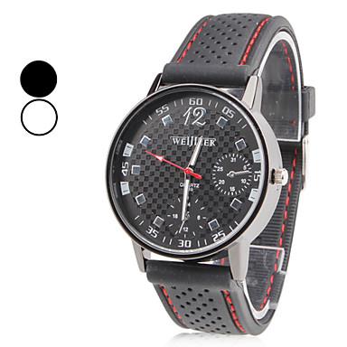 Pánské Křemenný Náramkové hodinky japonština Hodinky na běžné nošení Silikon Kapela Přívěšky Černá