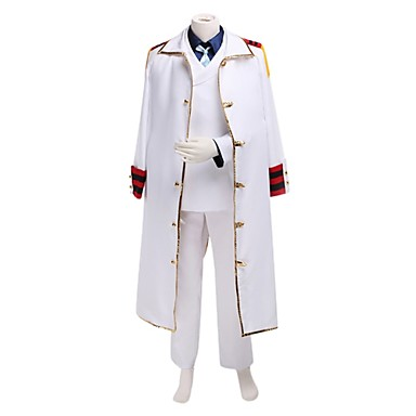 Inspired by One Piece Monkey D. Kapu Anime Cosplay Costumes Cosplay Suits Patchwork Long Sleeve Coat / Shirt / Pants For Men's