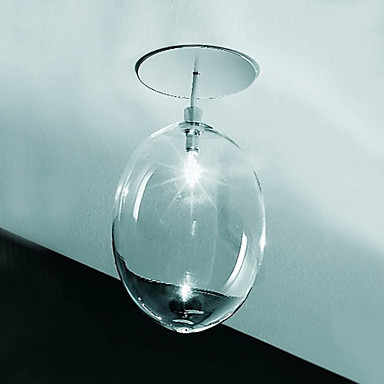 20W G4 Glass Flush Mount Light in Wine Glass Feature