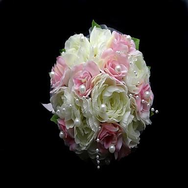 Wedding Flowers Bouquets Wedding Party / Evening Satin Cotton 8.66