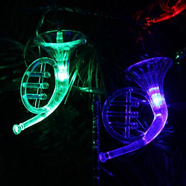 6m 32-ledet musikinstrument formet farverig lysstreng fe lampe til (220v)