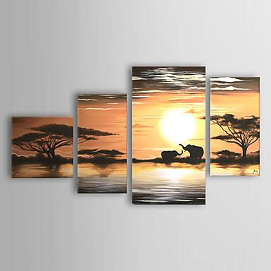 Pictat manual Peisaj orice formă pânză Hang-pictate pictură în ulei Pagina de decorare Patru Panouri