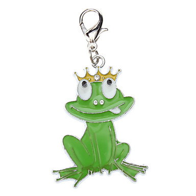 Dog tags Green Frog Prince Style Collar Charm for Dogs Cats