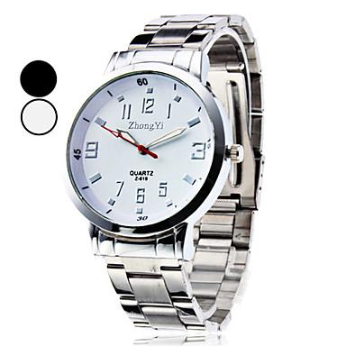 Herrn Armbanduhr Quartz Armbanduhren für den Alltag Legierung Band Charme Modisch Kleideruhr Silber - Weiß Schwarz