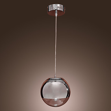 Pendant light modern contemporary globe chrome feature for mini style metal dining room kitchen