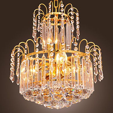 QINGMING® Traditional / Classic Pendant Light Uplight - Crystal Mini Style, 110-120V 220-240V Bulb Not Included