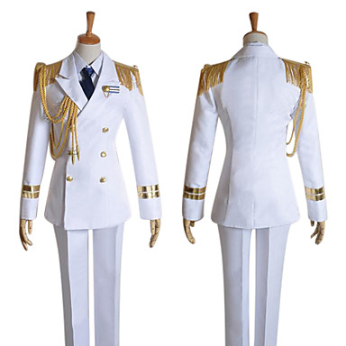 Inspired by Uta no Prince Sama Ai Mikaze Video Game Cosplay Costumes Cosplay Suits Solid Long Sleeves Coat Shirt Pants Hat Tie