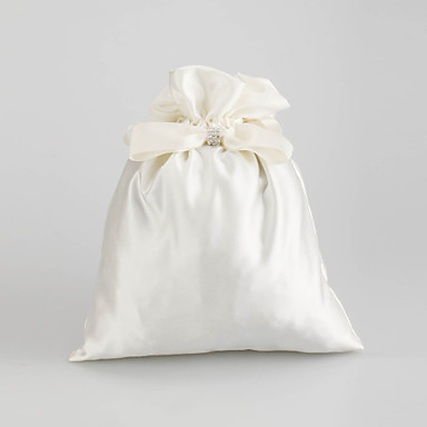 Satin with Crystal and Bowknot Wedding Bridal Purse(More Colors)