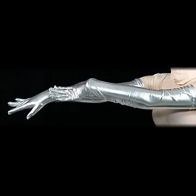 Eldivenler Ninja Zentai Cosplay Kostümleri Gümüş Solid Eldivenler Spandex Erkek Kadın's Cadılar Bayramı / Yüksek Elastikiyet