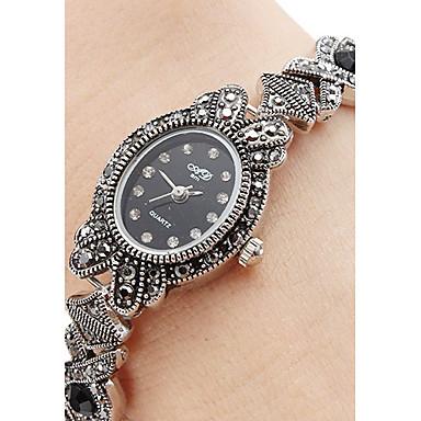 Kadın's Bilezik Saat Japonca Gündelik Saatler Alaşım Bant İhtişam / Moda Siyah / Bir yıl / SSUO SR626SW