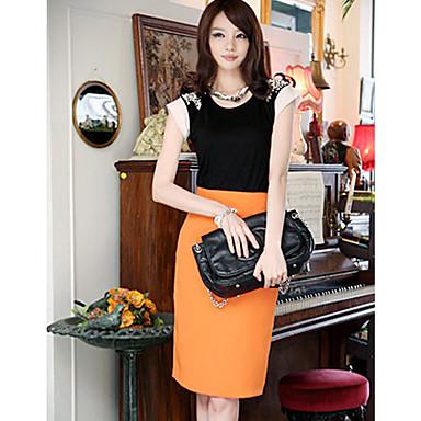 ALAN Casual Candy Color Skirt (More Colors, Slim Fit)