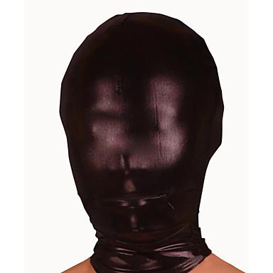 Mască Ninja Zentai Costume Cosplay Negru Mată Mască Spandex Bărbați / Pentru femei Halloween / Înaltă Elasticitate