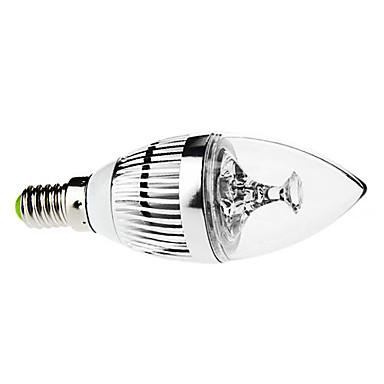 3 W 250-350 lm E14 LED Mum Işıklar C35 3 LED Boncuklar Yüksek Güçlü LED Kısılabilir / Dekorotif Doğal Beyaz 220-240 V / 110-130 V