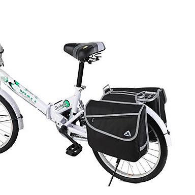 Terno para 10-20 Folding Bike polegadas 600D / PVC impermeável Pacote de Transporte 37L lado duplo (preto)