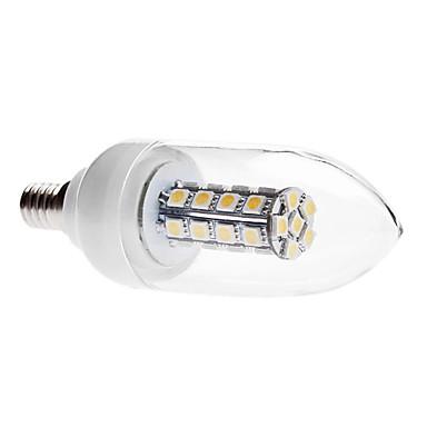 3000lm E14 LED Kerzen-Glühbirnen C35 30 LED-Perlen SMD 5050 Dekorativ Warmes Weiß 85-265V
