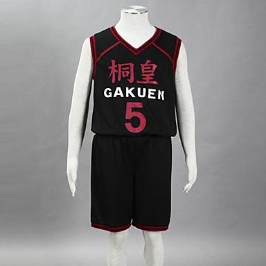 Inspirovaný Kuroko no Basket Aomine Daiki Anime Cosplay kostýmy Cosplay šaty Tisk Bez rukávů Vesta Kraťasy Pro Pánské